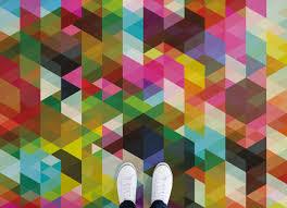 pop geometric room floor design and flooring ideas