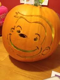curious george carved pumpkin template pbs kids