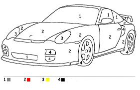 20 dessins de coloriage voiture de course à imprimer