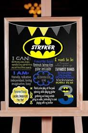 first birthday chalkboard superman superhero poster boy 1st