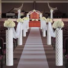 wedding arches with lights 4 pcs decorative height adjustable wedding columns plant