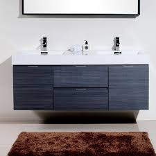 Modern Bathroom Vanities Tenafly 60 Wall Mount Modern Bathroom Vanity Set Reviews