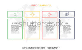 business infographics presentation 3 columns options stock vector