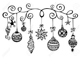 tree ornaments clipart black and white clipartxtras