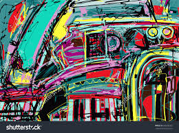 original digital painting abstraction composition you stock vector
