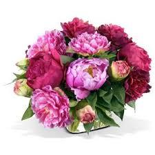 peony arrangement pink peony silk flower arrangement polyvore