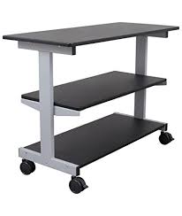 desk with shelves on side amazon com side desk shelves bookcase on wheels kitchen dining