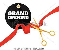 grand opening ribbon scissors cut grand opening today ribbon pair of scissors clip
