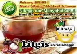 Teh Litgis manfaat dan khasiat serta harga teh kulit manggis plus teh hitam