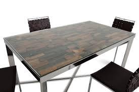Mosaic Dining Room Table Modrest Santiago Modern Rectangular Wood Mosaic Dining Table