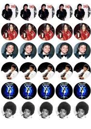 michael cake toppers 30 x michael jackson jacko mixed images edible cupcake toppers