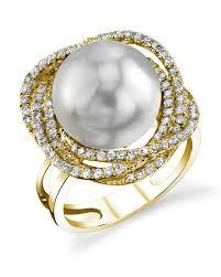 braided ring south sea pearl diamond braided ring