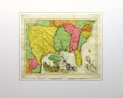 Watercolor Florida Map by Map Texas To Florida 1740