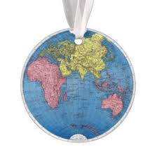 world globe ornaments keepsake ornaments zazzle