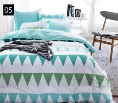 Teal Single Duvet Cover Quality Cotton Duvet Covers Set Simple Cross Bedding Set Double