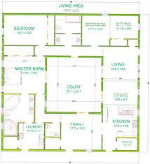 baby nursery courtyard house floor plans best courtyard house