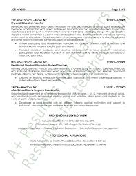 Dance Instructor Resume Sample by Physical Education Resume Example Page 2