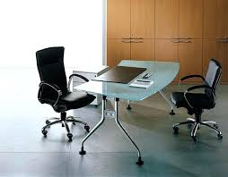 Stainless Steel Office Desk Executive Glass Office Desk Furniture Modern Glass Executive Desk