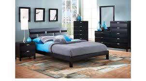 Black Platform Bed Black 6 Pc Platform Bedroom Contemporary