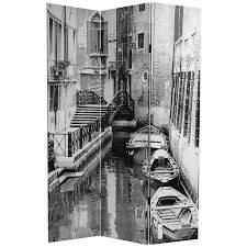 white room divider 6 ft tall scenes of venice canvas room divider roomdividers com