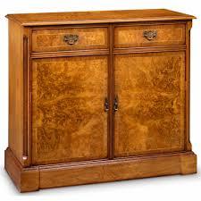 2 Door Tv Cabinet Two Door Tv Cabinet With Shallow Front Storage Burr Walnut Amc275