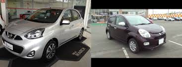 toyota passo vs nissan march clash of cars