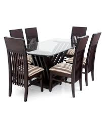 Looking Good Furniture Chairs  Legs With Teak Wood  Top Glass - Teak dining table and chairs india