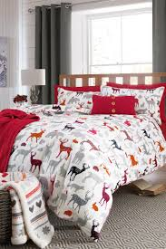 Shop Bedding Sets Buy Brushed Cotton Pattern Stags Bed Set From The Next Uk