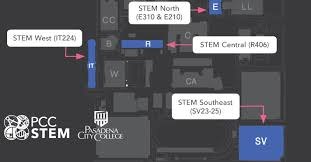 Pcc Map Stem Centers Stem At Pcc Pasadena City College