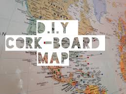 United States Map Wall Art by D I Y Cork Board Map Youtube