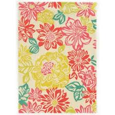 Pink Floral Rugs Linon Trio Collection Brights Floral Multicolored Area Rug 8 U0027 X