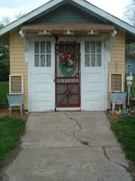 warm cozy home red screen door