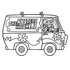 Scooby Doo Coloring Pages Mystery Machine Picture Elegant Mystery Coloring Pages