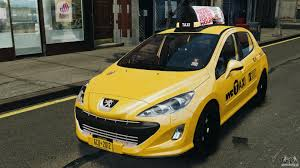 peugeot yellow peugeot 308 gti 2011 taxi v1 1 for gta 4