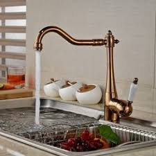 Wall Mount Kitchen Faucet Single Handle Brass Material Wall Mounted Antique Kitchen Faucet Hot And Cold