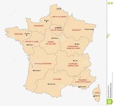 Lille France Map by Administrative Map Of The 13 Regions Of France Since 2016 Stock