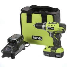 Home Depot Deal Of Day by Ryobi 18 Volt One Lithium Ion Compact Drill Driver Kit P1811