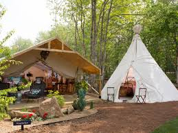 Tent Building by 12 New Glamping Tents On The Coast Of Maine Are Our New Summer