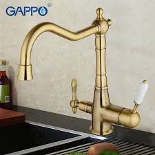 brass kitchen faucets gappo water filter faucet torneira kitchen faucet bronze antique