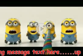 singing text message for birthday minions singing happy birthday my