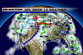 Weather Map Chicago 2016 Nfl Weather Forecast Week 12 Despite Storms Nfl Games See