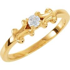 mothers rings 2 stones 14kt yellow 1 ring mounting for raleigh diamond