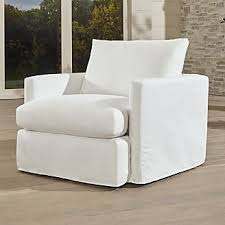 Slipcovered Armchairs Outdoor Patio Lounge Furniture Crate And Barrel