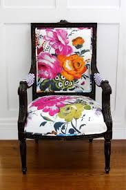 Printed Fabric Armchairs Use Fabric And Paint To Update A
