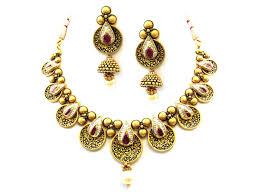 gold antique necklace sets images 89 90g 22kt gold antique necklace set sheelajewelers jpg