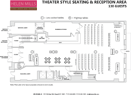 floor plan theater event space helen mills event space and theater venue rental nyc