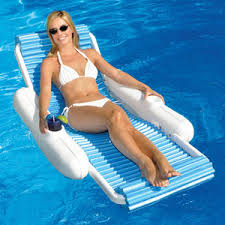 Floating Pool Lounge Chairs Swimline Sunchaser Padded Luxury Lounge Chair