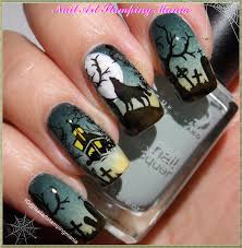 nail art stamping mania halloween manicure with different plates