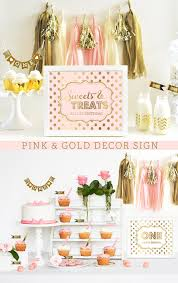 pink and gold decorations pink and gold birthday pink and gold