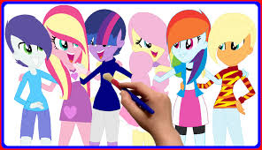 my little pony equestria girls coloring book mlp coloring